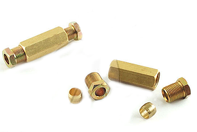 Разъем медной трубки 6 мм. - 6 мм.