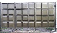 Ворота металлические с филенкой