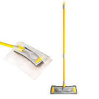 Швабра для уборки со сменными насадками (салфетками) 33см, ТМ APEX