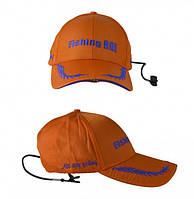 "Кепка с фонариком Fishing ROI ""Fishing Сap with LED  Light"" orange+dark blue"
