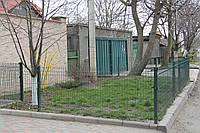 Забор для дачи из сетки с полимерным покрытием