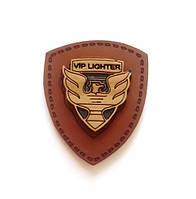Нашивка L 2 VIP LIGHTER коричневая