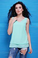 Летняя женская блуза Maya ментол Fashion UP 42-48 размеры