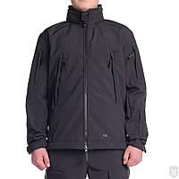Куртка мужская софтшел (черная) UNIT Mistral black