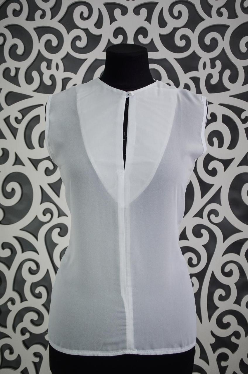 Изящная женская шифоновая блузочка 44, 46 размер норма 44