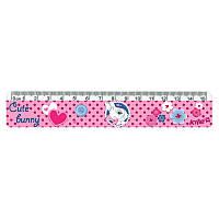 Линейка пластиковая Kite Cute Bunny K17-090-1