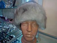 Меховая шапка из голубой норки. Цельная!