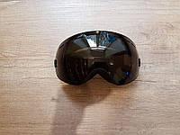 Горнолыжная маска Be Nice с прорезями. Черная рамка. Черная линза.