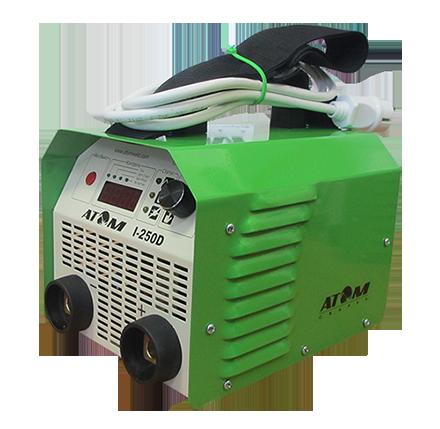 Инвертор Atom 250D (Украина-Запорожье)с комплектом кабелей КГ-16 2+3 и зажимами Binzel