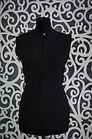 """Женская шифоновая блузочка """"Черный"""" 44, 46 размер норма"""