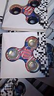 Спиннер американский флаг Fidget Spinner металлокерамический, Антисресс