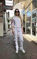 Женский прогулочный костюм Colors of California молочный