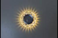 Точечный светильник (спот)cо встроенной LED подсветкой,7083 White