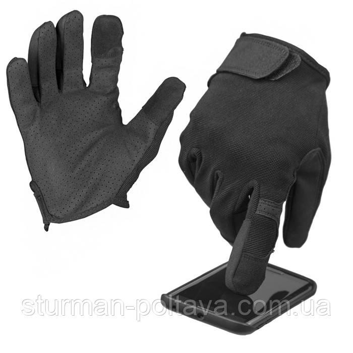 Перчатки мужские  тактические  TOUCH Mil-Tec  сенсор  черные Германия