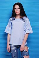 Голубая женская блуза Lili Fashion UP 42-48 размеры