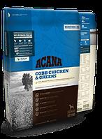 Acana COBB CHICKEN & GREENS 17 кг сухой корм для взрослых собак с курицей и зеленью 17 кг