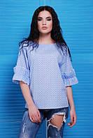 Синяя женская блуза Lili Fashion UP 42-48 размеры