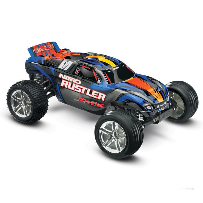 Автомобиль Traxxas Rustler 2,5 Nitro Stadium Truck 1:10 RTR 44094-1 Blue