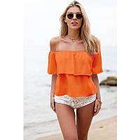 Пляжный топ накидка оранж