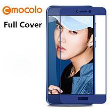 Защитное стекло Mocolo Full сover для Huawei P8 Lite 2017 синий