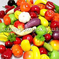 Искусственные фрукты - овощи (муляж). Цена за 100 шт.