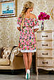 Красивое  летнее  платье 2251розовое с принтом, фото 3