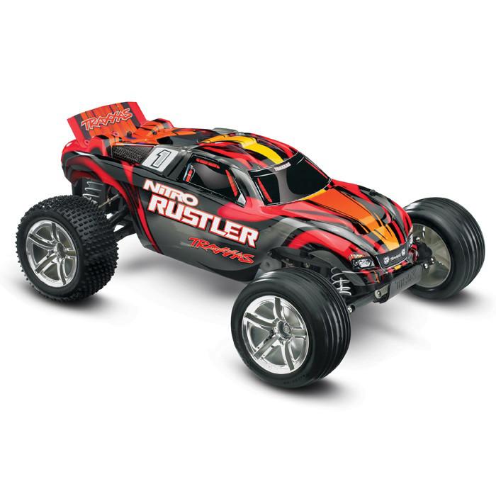 Автомобиль Traxxas Rustler 2,5 Nitro Stadium Truck 1:10 RTR 44094-1 Red