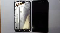 Дисплей (экран) Nokia Lumia 640 XL с сенсором и рамкой черный high copy.
