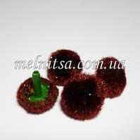 Серединка для цветка, бархатная, 20 мм, цвет коричневый