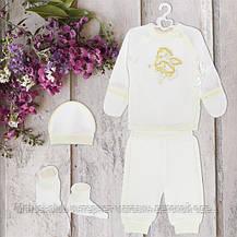Одежда для крестин, для мальчика 1-3мес Хлопок-интерлок. 1848инм.,в наличии _62_68рост, фото 2