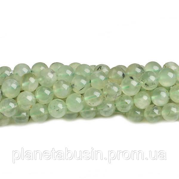 8 мм Пренит, CN232, Натуральный камень, Форма: Шар, Отверстие: 1мм, кол-во: 47-48 шт/нить