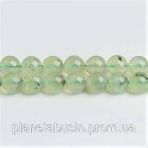 8 мм Пренит, CN232, Натуральный камень, Форма: Шар, Отверстие: 1мм, кол-во: 47-48 шт/нить, фото 2