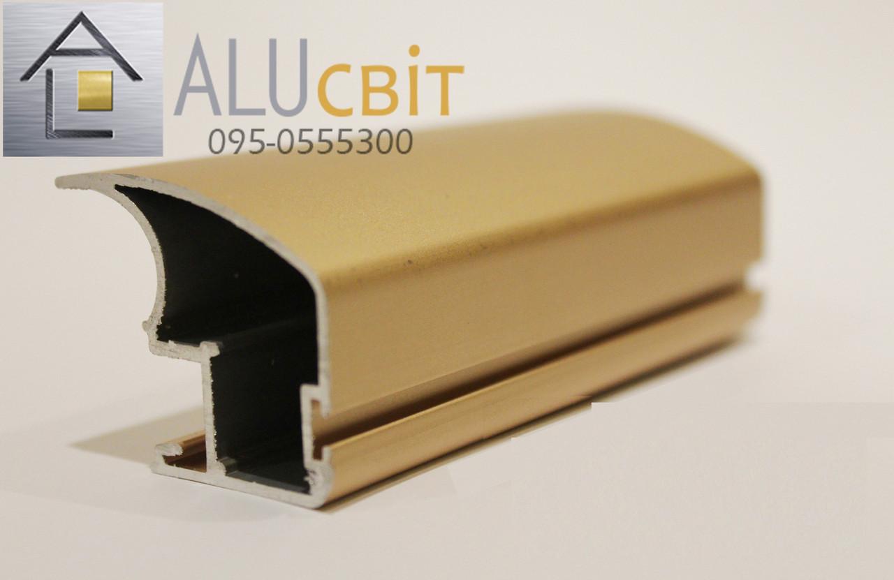 Вертикальный профиль SLIPP С-40 розовое золото открытый