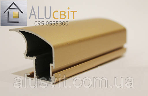 Вертикальный профиль SLIPP С-40 розовое золото открытый, фото 2