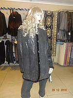 Куртка женская с норкой коричневая