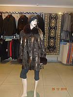 Куртка коричневая со съемным  воротником