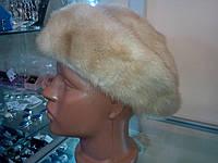Меховая шапка из натуральной норки.
