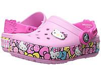 Кроксы детские светящиеся Crocs Hello Kitty Carnation Ribbon CrocsLights