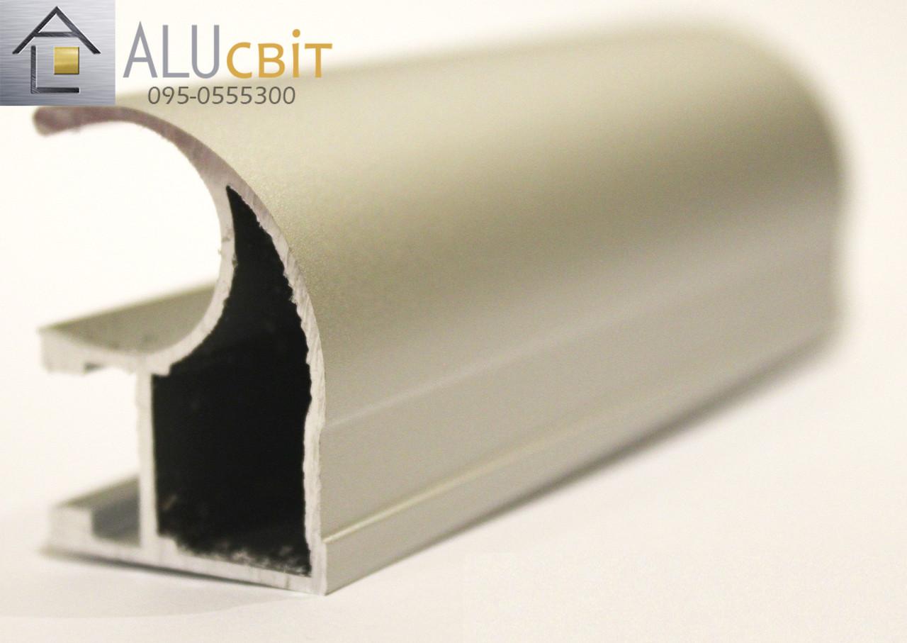 Вертикальный профиль SLIPP С-22 серебро открытый