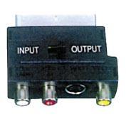 Перехідник Шт.SCART-3Гн.RCA + SVHSз перемик.(VK11114)