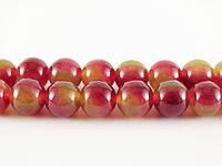 Арбузный Турмалин, Натуральный камень, На нитях, бусины 8 мм, Шар, кол-во: 47-48 шт/нить