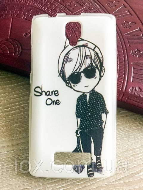 "Силіконовий чохол-накладка ""Share one"" для Lenovo А2010"