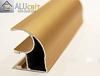 Вертикальный профиль SUPER АА14 розовое золото открытый