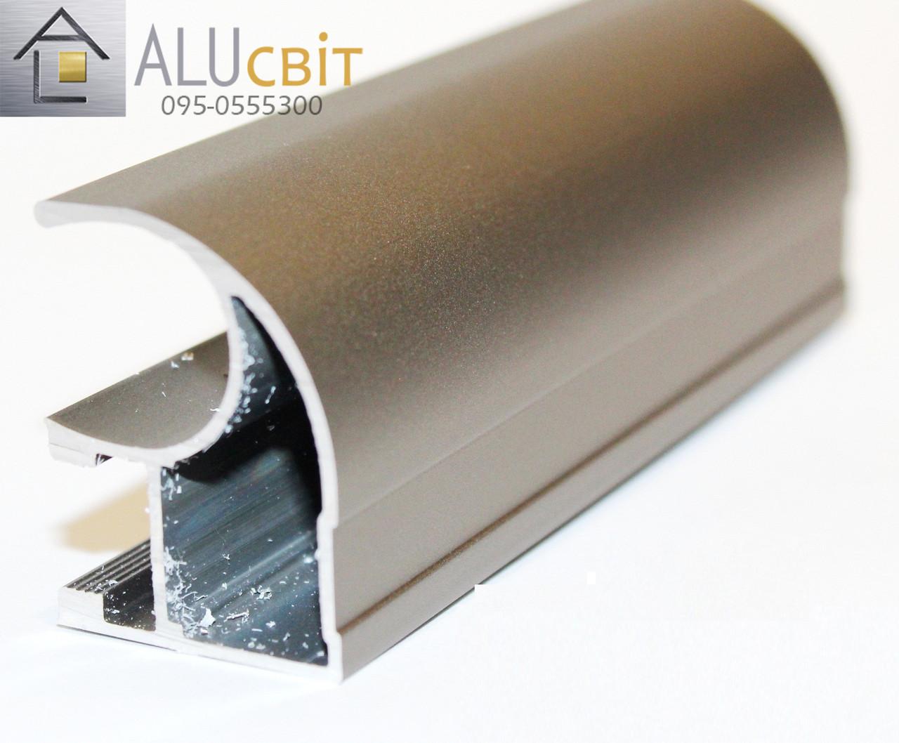 Вертикальный профиль SLIPP С-22 светлая бронза (шампань) открытый