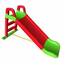 Горка для катания детей, красно-зеленая