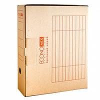 Бокс архивный картонный 80мм 800л КОРИЧНЕВЫЙ