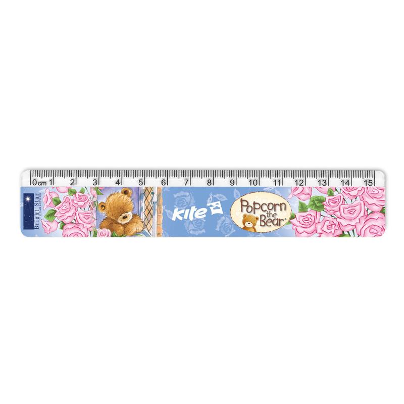 Линейка пластиковая Kite Popcorn PO17-090