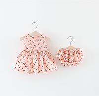 Платье в комплекте с трусиками розовое