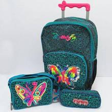 Набір валіза-рюкзак на колесах +пенал+сумка Метелик