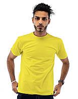 Футболка Мужская Желтая 100% Хлопок